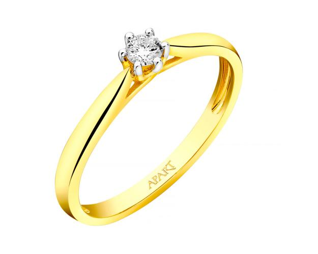 14ct Yellow Gold Ring with Diamond