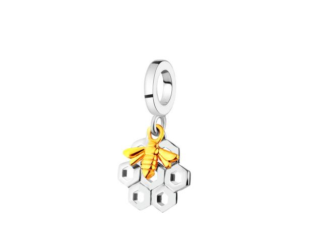 Rhodium-Plated Silver, Gold-Plated Silver Pendant