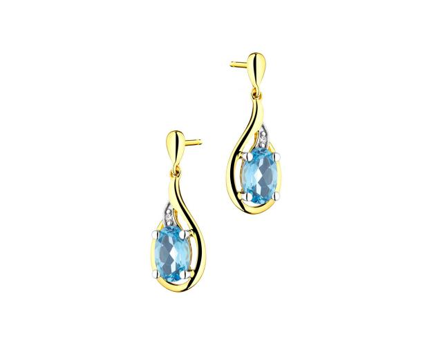 9ct Yellow Gold Earrings with Diamonds