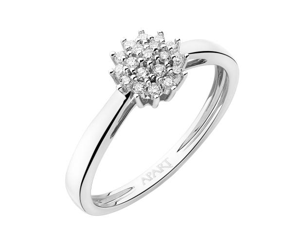 14ct White Gold Ring with Diamonds