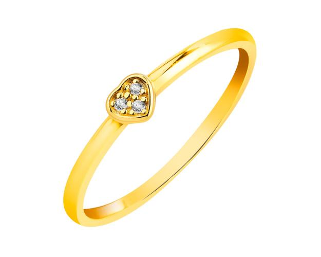 14ct Yellow Gold Ring with Cubic Zirconia