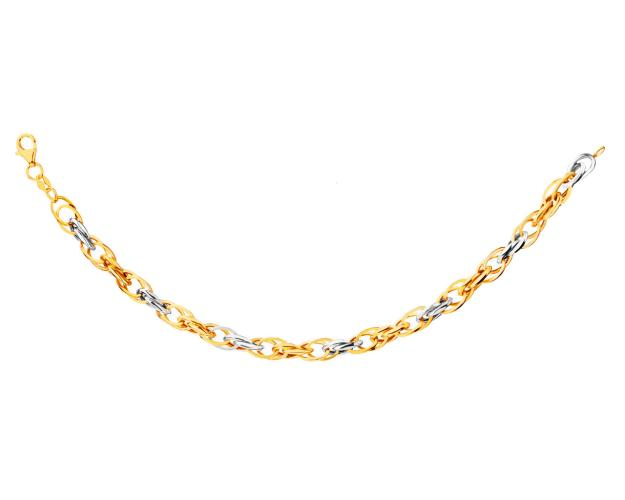 9ct Yellow Gold, White Gold Bracelet