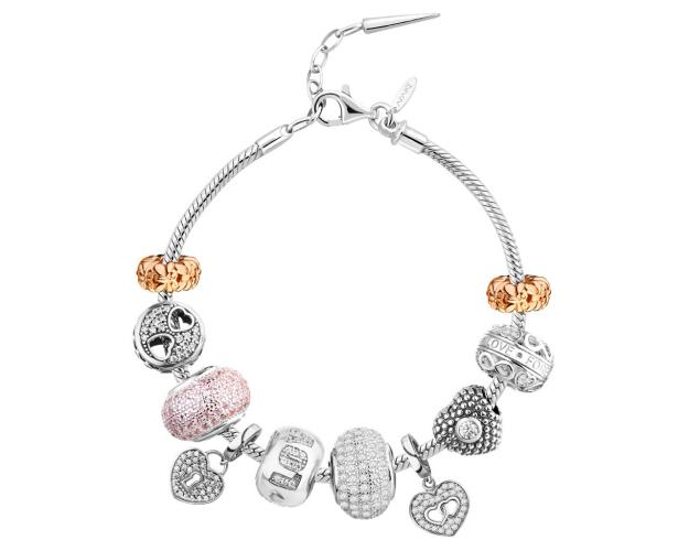 Beads Bracelet - Set - Heart, Butterflies, Infinity, Love, Padlock