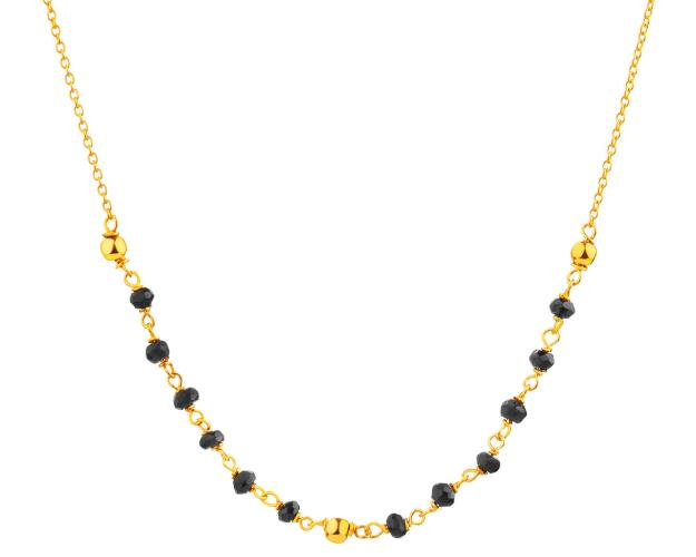 8ct Yellow Gold Necklace with Cubic Zirconia