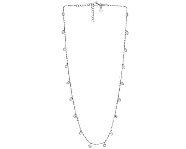 Sterling Silver Necklace with Glass Beads
