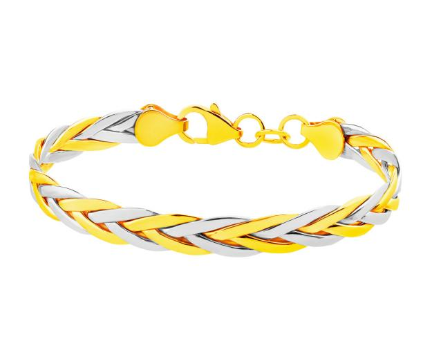 8ct Rhodium-Plated Yellow Gold Bracelet