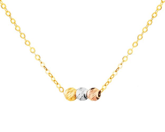 14ct Yellow Gold, White Gold, Pink Gold Necklace