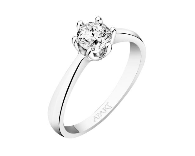14ct White Gold Ring with Diamond