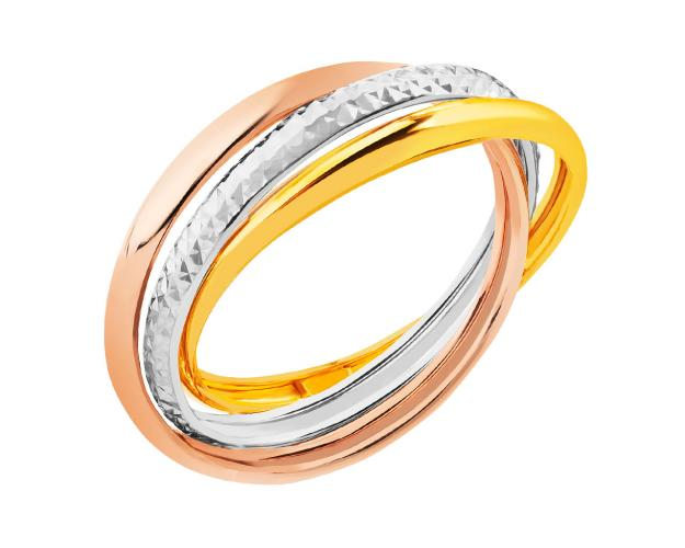14ct Yellow Gold, White Gold, Pink Gold Ring