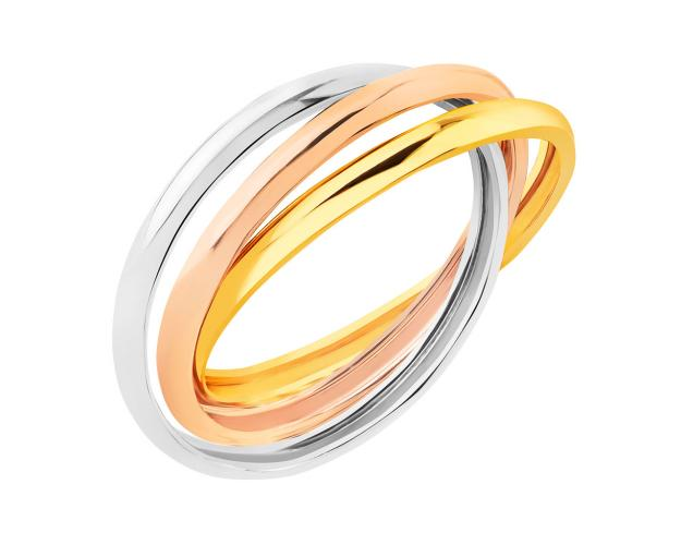 8ct Yellow Gold, White Gold, Pink Gold Ring