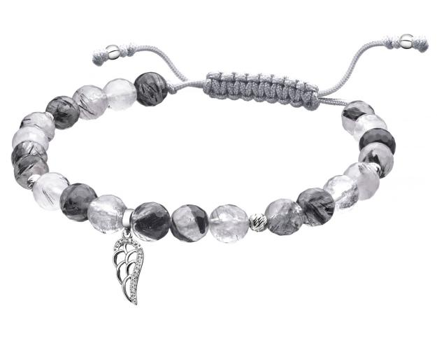 9ct White Gold Bracelet with Diamonds