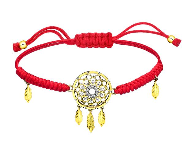 Pulsera de Oro Amarillo con Diamantees