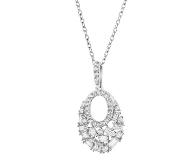 Sterling Silver & Cubic Zirconia Pendant