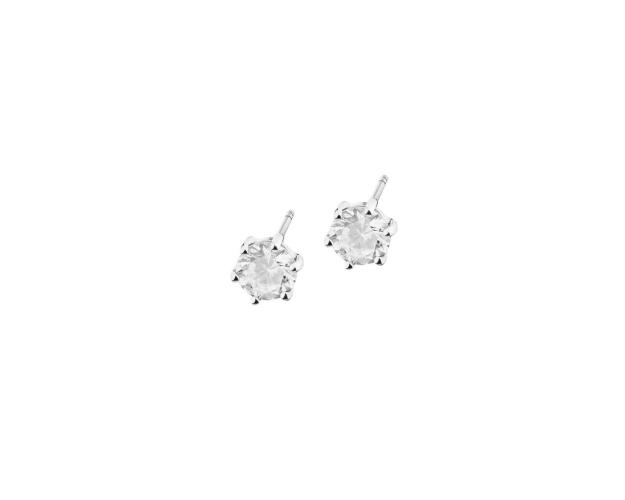 14ct White Gold Earrings with Cubic Zirconia