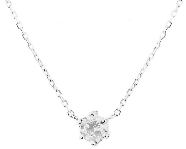 14ct White Gold Necklace with Cubic Zirconia