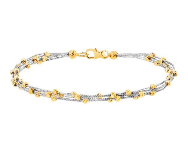 14ct White Gold, Yellow Gold Bracelet