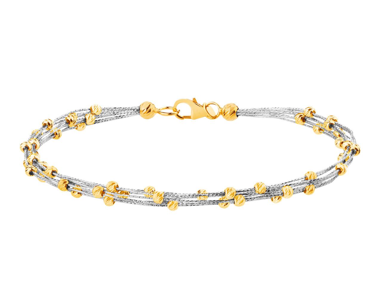 14ct White Gold Yellow Bracelet