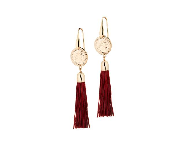 Gold Plated Bronze Champagne Earrings
