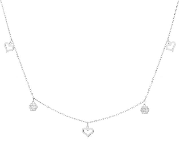 9ct White Gold Necklace with Cubic Zirconia