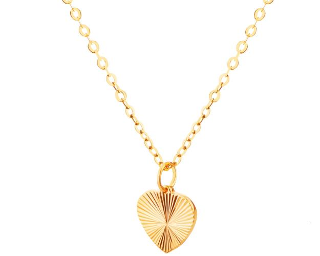 Yellow Gold Necklace - Heart