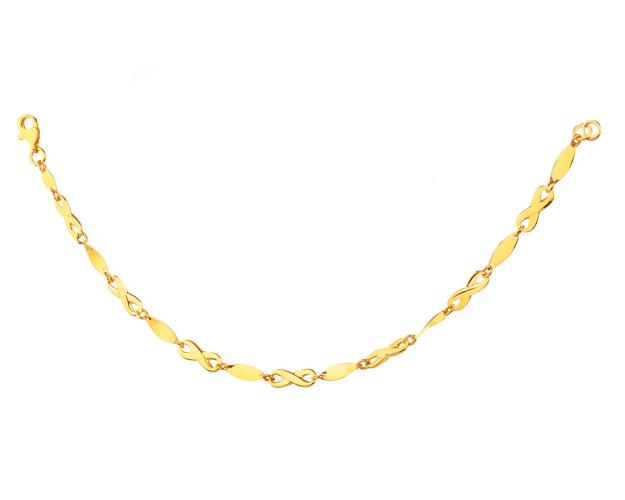 Yellow Gold Bracelet - Infinity