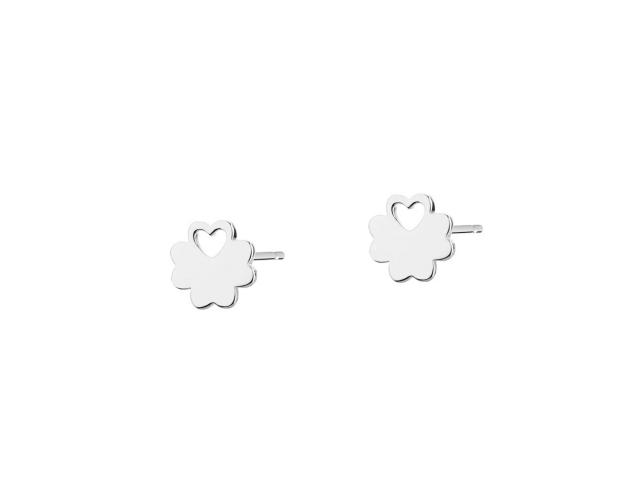 Sterling Silver Earrings - Clover, Heart