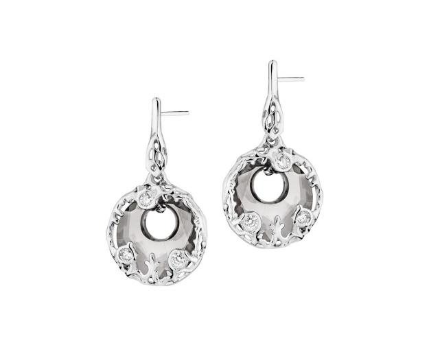 Sterling Silver Earrings with Cubic Zirconia & Crystals