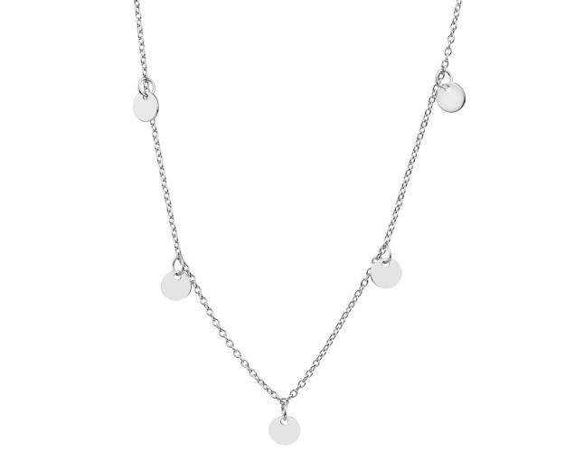 Sterling Silver Round Disc Necklace