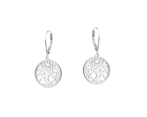Sterling Silver Earrings - Tree