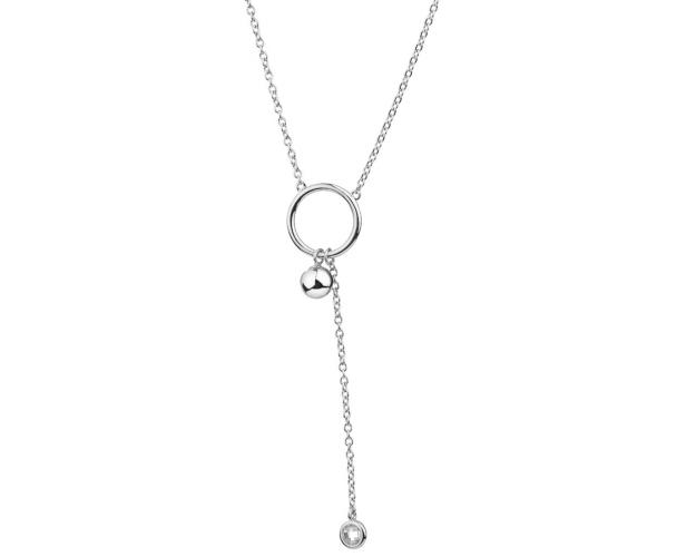 Sterling Silver Necklace - Circle, Ball