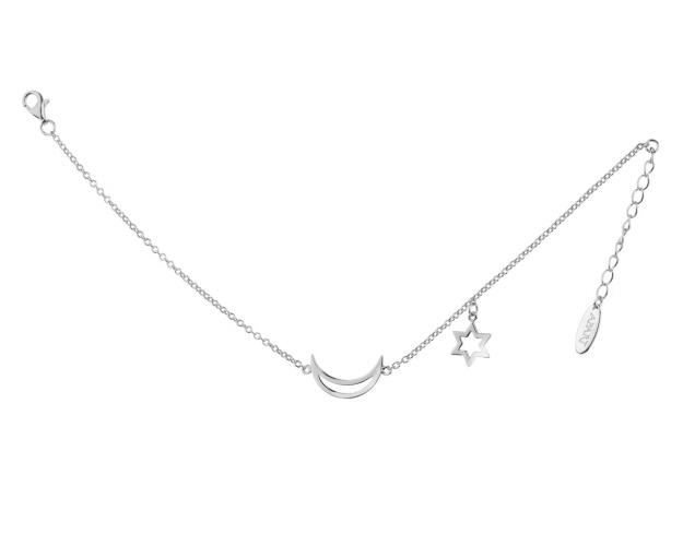 Sterling Silver Bracelet - Moon, Star