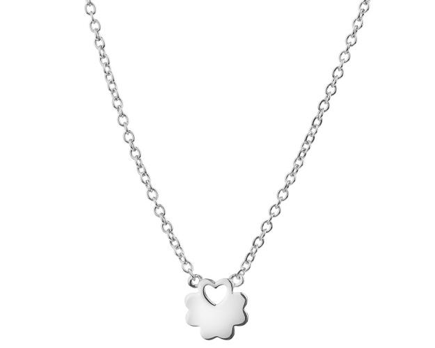 Sterling Silver Necklace - Clover, Heart