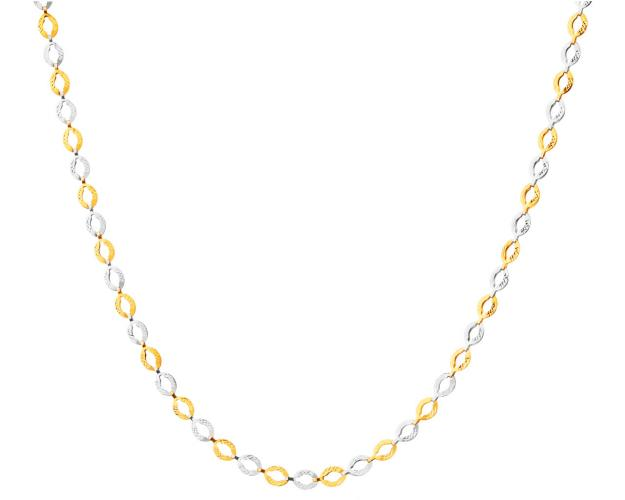 14ct Rhodium-Plated Yellow Gold Necklace