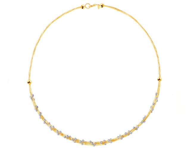 9ct Yellow Gold, White Gold Necklace