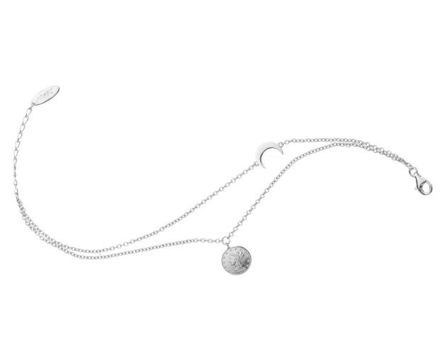 Sterling Silver Bracelet - Coin, Moon