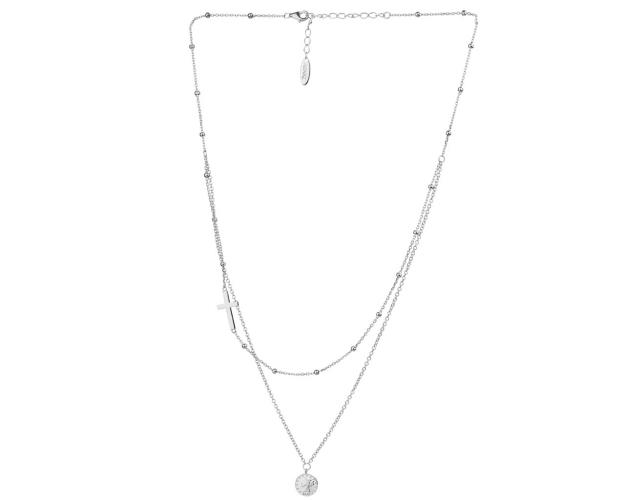 Sterling Silver Necklace - Coin, Cross