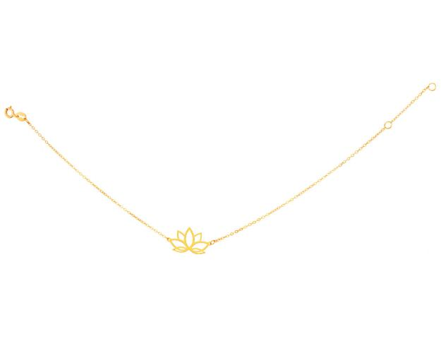 Yellow Gold Bracelet - Lotus Flower