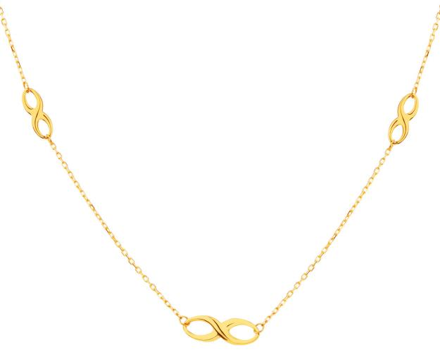 Yellow Gold Necklace - Infinity