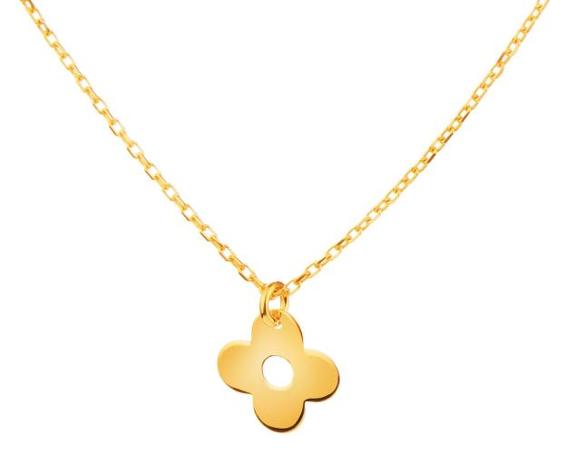 Yellow Gold Necklace - Flower