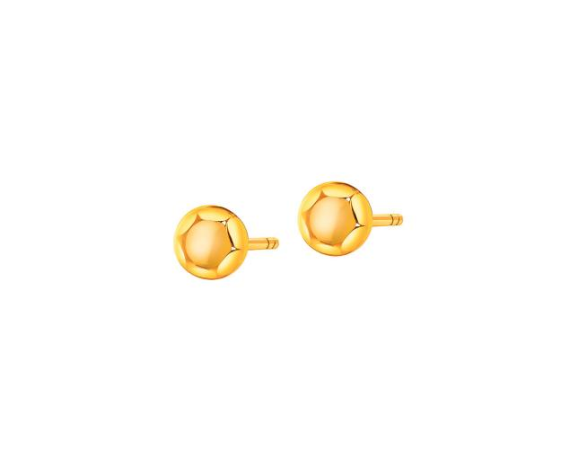 Yellow Gold Earrings with Synthetic Citrine