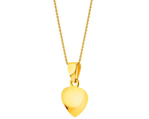 Yellow Gold Pendant - Heart