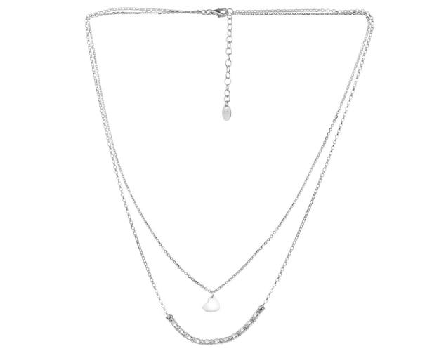 Sterling Silver Necklace with Cubic Zirconia - Heart