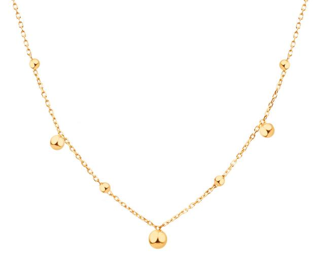 Yellow Gold Necklace with Balls