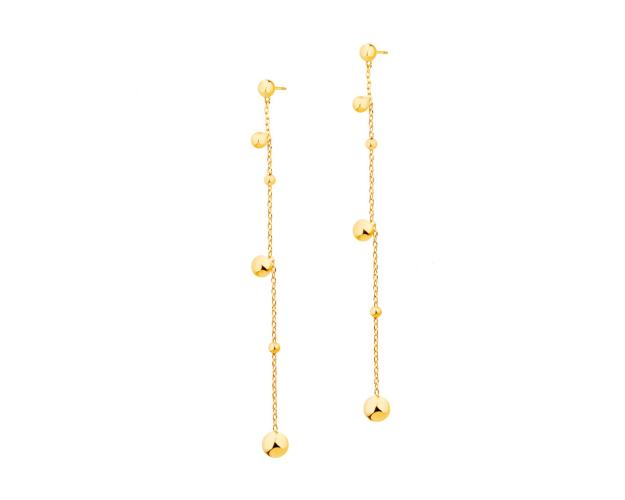 Yellow Gold Earrings with Balls