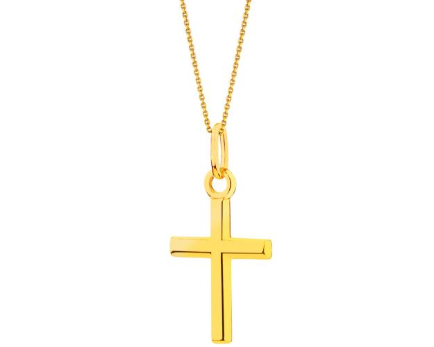 Yellow Gold Pendant - Cross