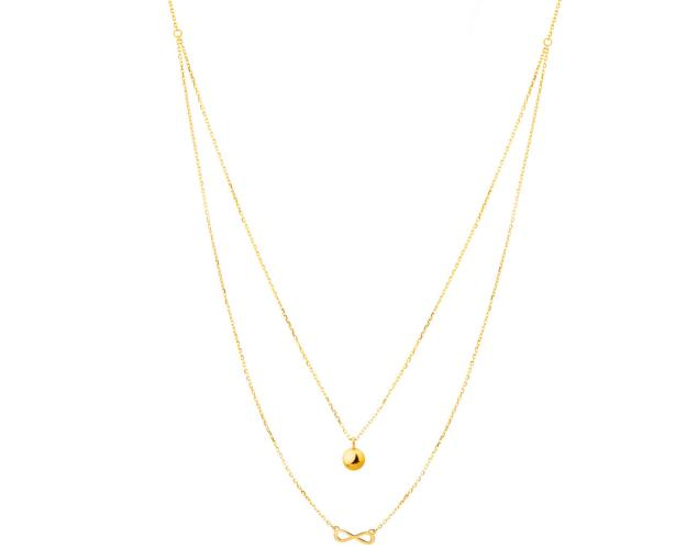 Yellow Gold Necklace - Infinity Symbol
