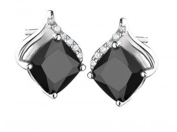Silver earrings with cubic zirconias