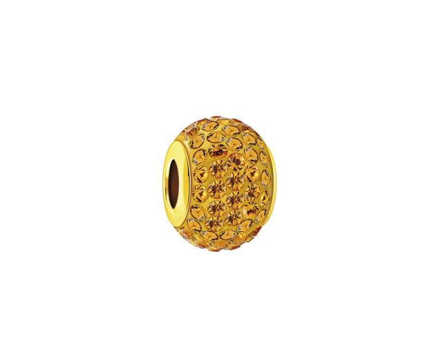 Gold bead with crystals