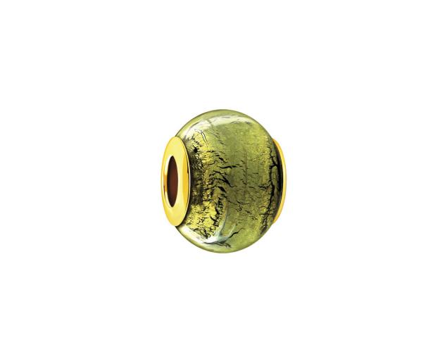 Gold bead with Murano glass