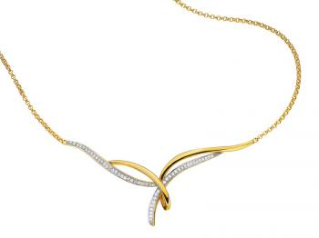 Yellow gold necklace with diamonds